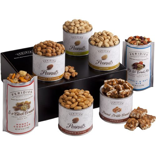 - FERIDIES Virginia Peanut and Snack Mix Sampler Gift Set