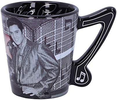 Black us:one Size Nemesis Now Elvis Presley with Pink Cadillac Drinking Mug