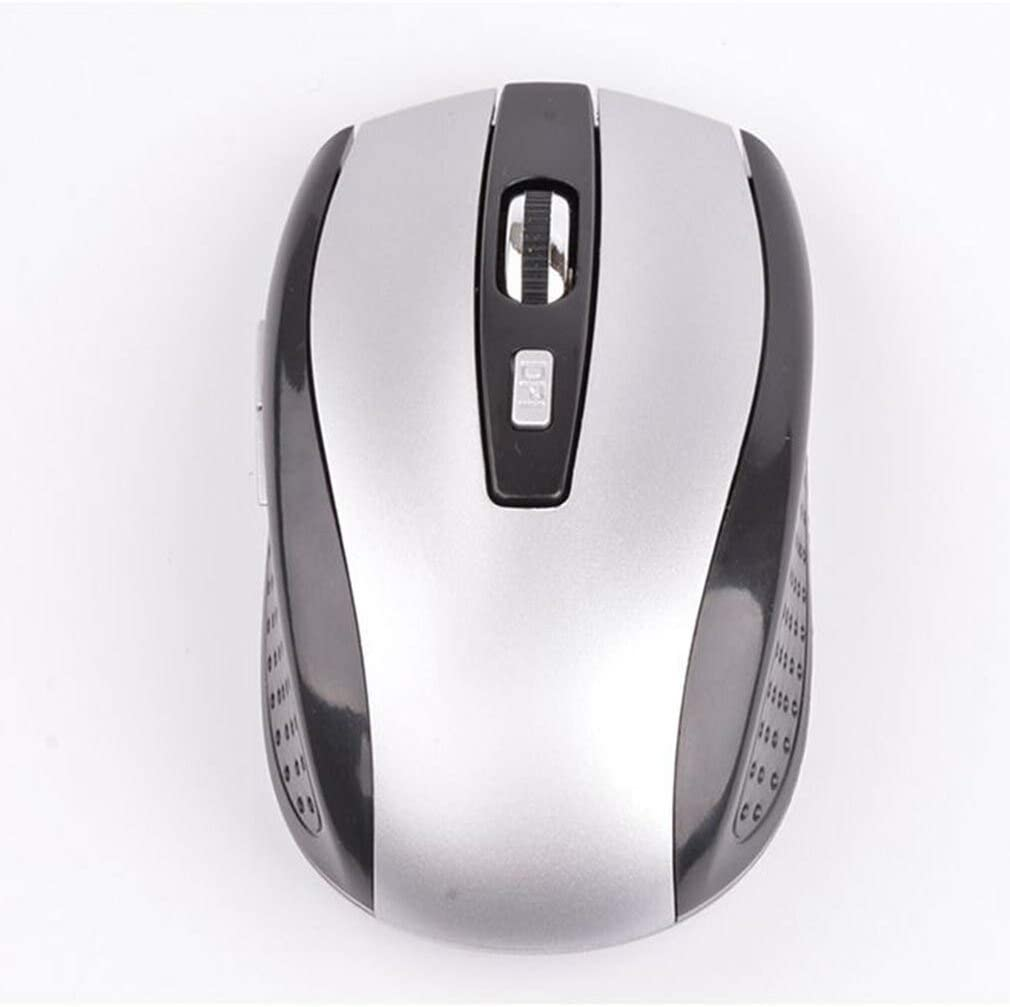 Red HAMISS 1600 DPI 6 Button Wireless Gaming Mouse 2.4GHZ Optical Mouse Gamer Computer Mouse Mice for Pro Laptop Desktop Video gameFor PC Laptop