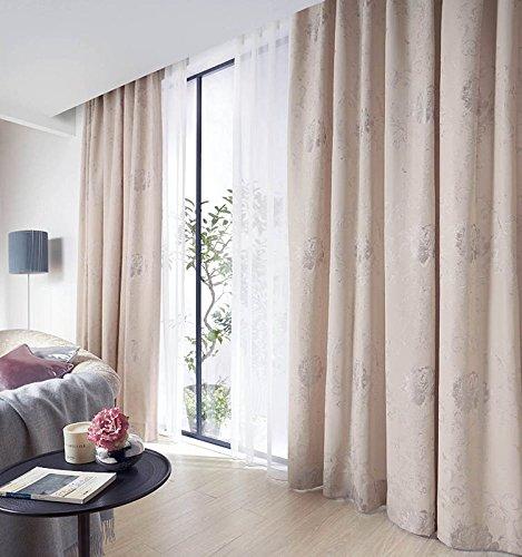 アスワン ぼかし風のタッチを織物で表現したデザイン カーテン1.5倍ヒダ E6100 幅:300cm ×丈:120cm (2枚組)オーダーカーテン 120  B0784WQK9H