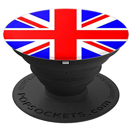 UK United Kingdom Country Flag for Proud British English - PopSockets Grip and Stand for Phones and Tablets - English Country Pedestal
