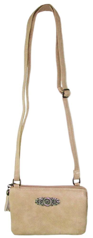 19b5213038956 ... Trachtenland - Trachten Umhängetasche Sofia - Kleine Handtasche  Abendtasche mit Metallapplikation zu Dirndl und Lederhose ...