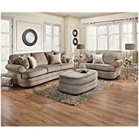 Simmons Upholstery 9255BR-03 Kingsley Pewter Kingsley Pewter Sofa, Pewter