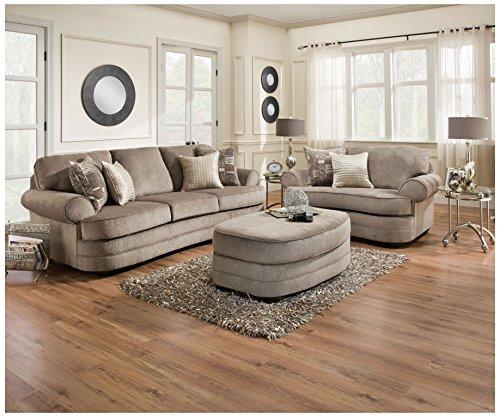 Simmons Upholstery 9255BR-03 Kingsley Pewter Kingsley Pewter Sofa, Pewter