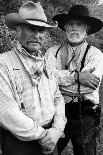 (Robert Duvall and Tommy Lee Jones in Lonesome Dove B/W Portrait classic western 1989 24x36 Poster)