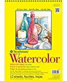 """Strathmore 300 Series Watercolor Pad, Cold Press, 9""""x12"""" Wire Bound, 12 Sheets"""