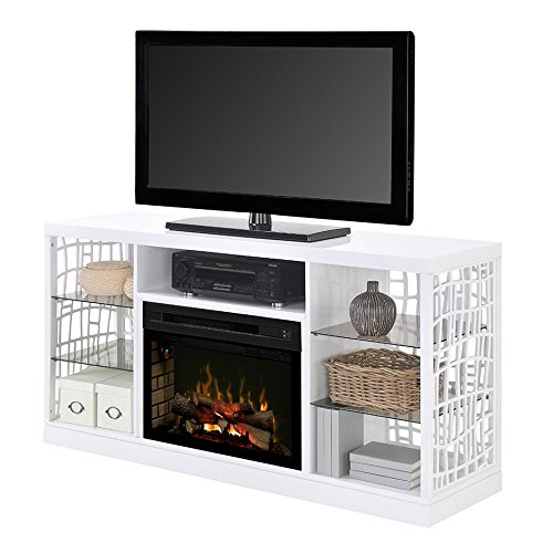 Best Buy DIMPLEX Electric Fireplace TV Stand Media Console Space Heater and Entertainment Center with Natural Log Set in White Finish - Charlotte #GDS25LD-1579W Reviews