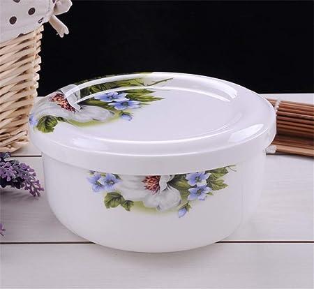 KISlink Recipiente de cerámica para microondas con lonchera ...