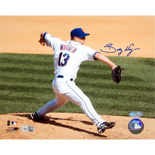 Steiner Sports MLB New York Mets Billy Wagner New York Mets Home Pitch Horizontal (8 x 10-inch)