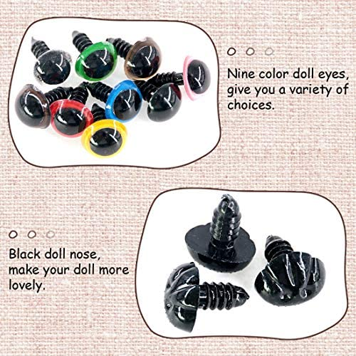 Black For Hobby Plastic Animal Noses 12 mm Bags 4 pieces