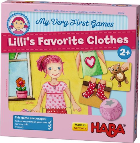 HABA My Very First Games - Lilli's Favorite Clothes Memory Game (Made in Germany) by HABA