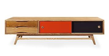 Delicieux Amazon.com: Kardiel Color Pop Mid Century Modern Media Cabinet, Oak/Orange  U0026 Charcoal Doors: Kitchen U0026 Dining