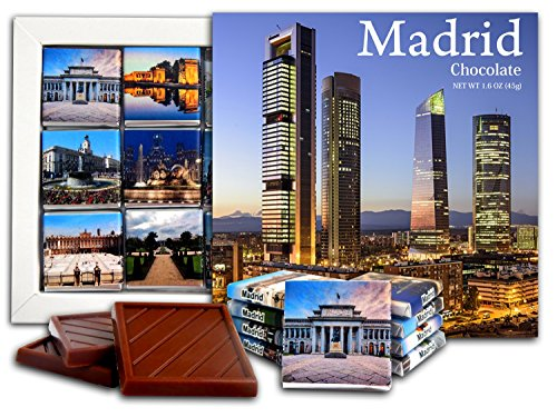 ouvenir MADRID Chocolate Gift Set 5x5in 1 box (Night) ()