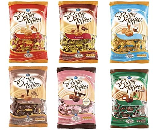 Arcor Butter ToffeesAll Flavours 950g 2.1lb. 6 pack by Arcor (Image #1)