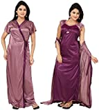 Fabme Women's Dressing Gown (NW025_Peach_Large)