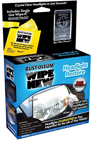 Rust-Oleum HDLCAL Wipe New Headlight Restore, 034 fl oz