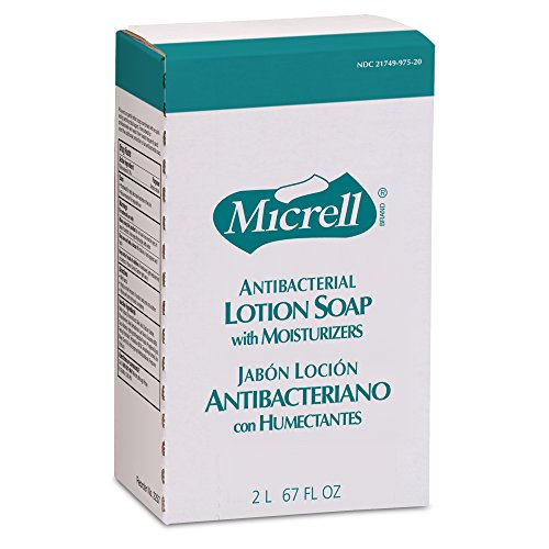 MICRELL NXT Antibacterial Lotion Soap, Floral Fragrance, 2000 mL Lotion Soap Refill for MICRELL NXT Push-Style Dispenser (Case of 4) - 2257-04