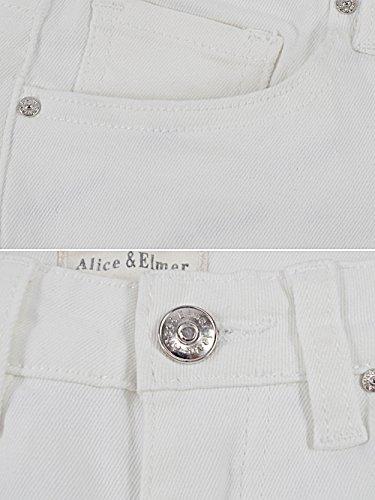 amp; Elmer Vita jeans Stretch Jeans Avorio Skinny Alice Bianco Donna Alta dIwPqHcyg5
