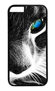 iPhone 6 Plus Case,VUTTOO iPhone 6 Plus Cover With Photo: Cat For Apple iPhone 6 Plus 5.5Inch - PC Black Hard Case