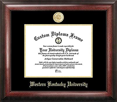Western Kentucky University Embossed Gold Foil Seal Graduate Diploma Frame