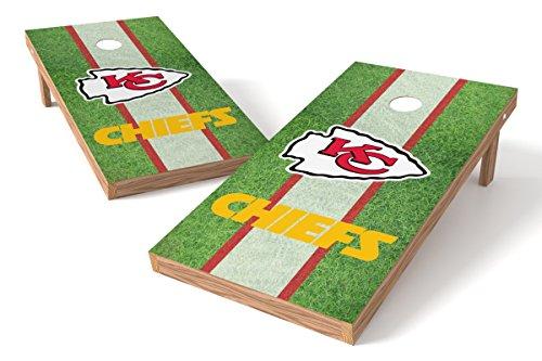 Wild Sports NFL Kansas City Chiefs 2' x 4' Field Authentic Cornhole Game Set