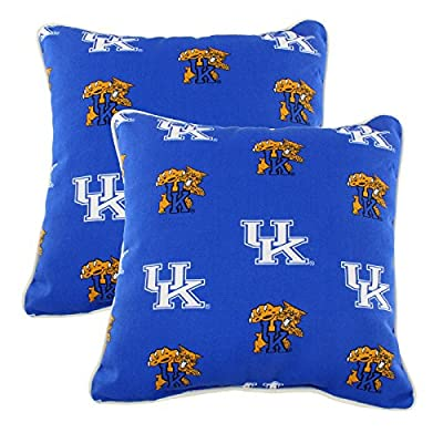"College Covers KENODPPR Kentucky Wildcats Outdoor Decorative Pillow Pair, 16"" x 16"", Blue"