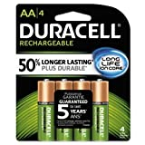 Duracell Rechargeable Long Life AA-4 Batteries in a Pack 2500/mAh