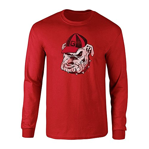 ia Bulldogs Long Sleeve Tshirt Vintage Icon Red - XL - Garnet Red ()