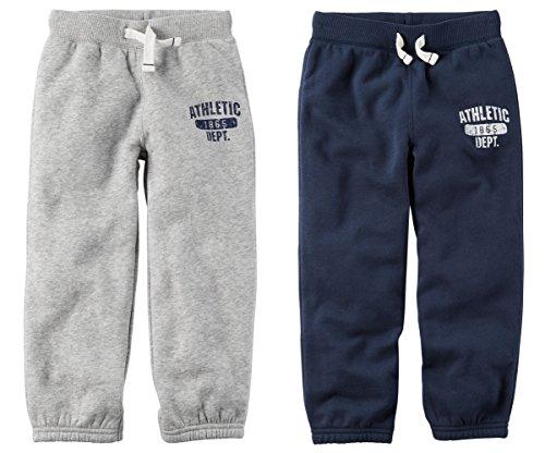 Carters Fleece Sweatpant (Carters Toddler Boys 2 Pack Warm Fleece Active Pants (4t))