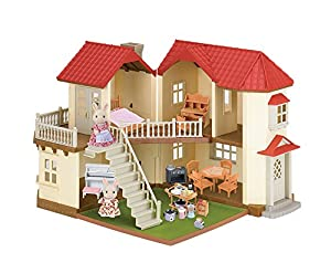 Calico critters luxury townhome gift set toys - Calico critters deluxe living room set ...