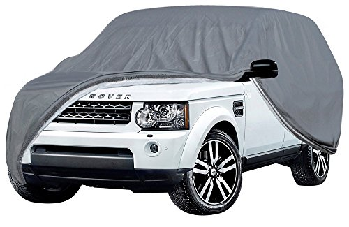 (OxGord Executive Storm-Proof Auto Cover - 100 Water-Proof 7 Layers -Developed for Any All Conditions - Ready-Fit Semi Glove Fit fro SUV, Van, and Truck - Fits up to 206 Inches)