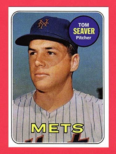 Tom Seaver 1969 Topps Baseball Reprint Rookie Card New York Mets