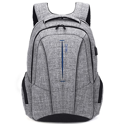 DTBG 17 Inch Laptop Backpack with USB Charging Port Anti-theft Pockets,Stylish Travel Business Backpack for Women Men,Slim College Daypack School Bag Computer Backpack for Laptops Up to 17.3 ,Gray
