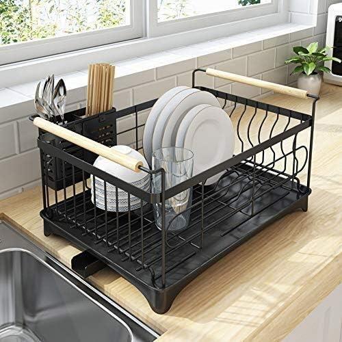 皿の水切り器、台所棚の台所貯蔵の棚排水口の棚皿の棚スパイスの棚、箸の版食器棚乾燥の棚
