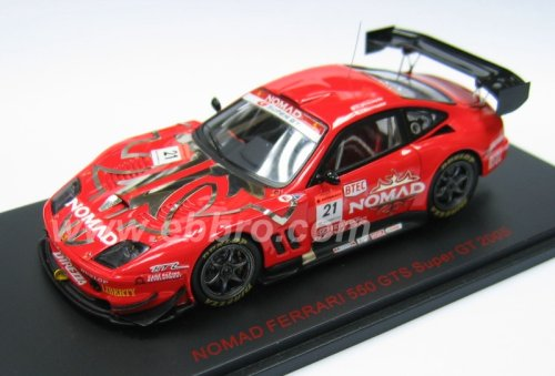 1/43 ノマド フェラーリ550 GTS マラネロ DUNLOP #21(レッド×シルバー) 「オートバックス SUPER GT 500 2005シリーズ」 43744