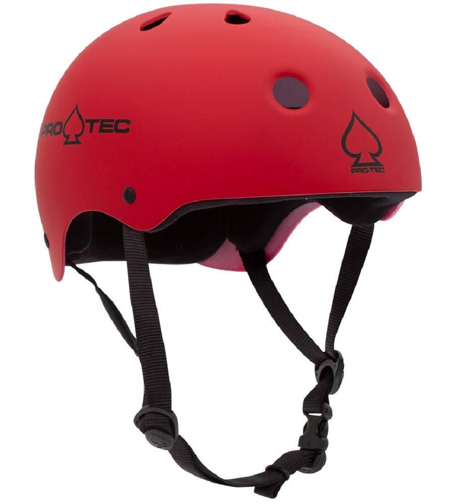 Pro-Tec Classic Skate Helmet (Matte Red, X-Large)