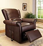 ACME 59169 Emari Electric Lift Recliner Chair with Massage Function, Dark Brown PU