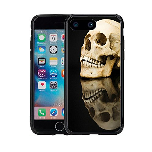 Dark Evil Skull Reflection for iPhone 7 Plus (2016) & iPhone 8 Plus (2017) (5.5) Case Cover by Atomic Market