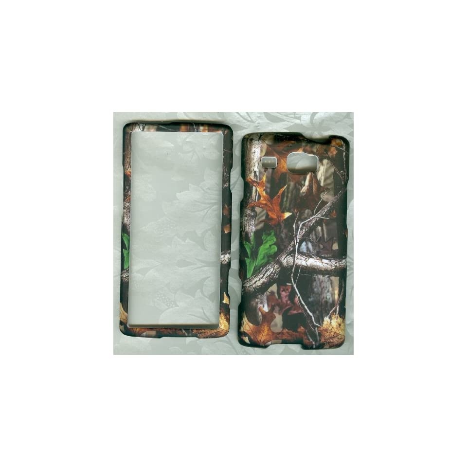 Rubberized Samsung Focus Flash I677 At&t Faceplate Cover Phone Case Camo Leaf