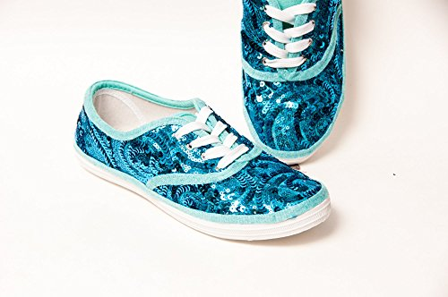 7b09ee714a87 Women's Malibu Blue Swirl Sequin Canvas Oxford Sneakers - Buy Online in  Oman. | princess pumps: custom shoes & more! Products in Oman - See Prices,  ...