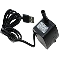 Baosity 200L/H, 1.5W Submersible Water Pump USB Brushless, Ultra Quiet For Pond, Aquarium, Fish Tank Fountain, Powerful Water Pump with 5.9ft Power Cord
