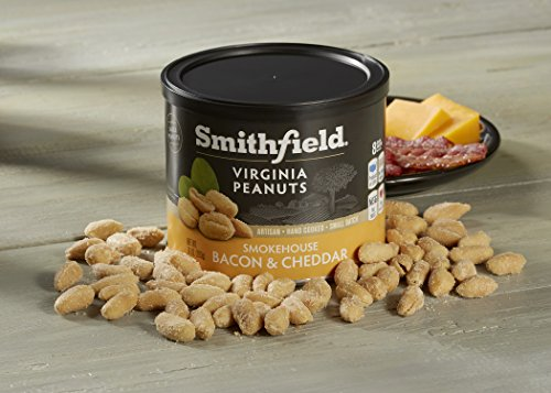 Smithfield Specialty Foods Smokehouse Virginia Peanuts, Bacon & Cheddar and Mild Cheddar Taste, 10 Ounce