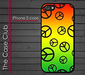 iPhone 5 Rubber Silicone Case - Colorful Peace Signs Tie-die tye-dye Peace to all