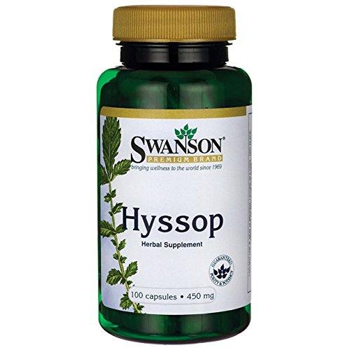 Swanson Hyssop 450 Milligrams 100 Capsules