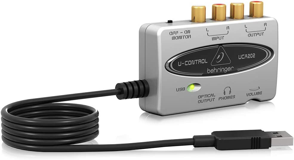 Behringer U-Control UCA202 Ultra-Low Latency 2 In//2 Out USB Audio Interface with Digital Output