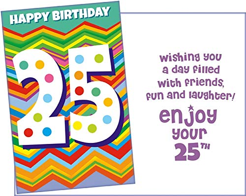 Prime Greetings Happy 25th Birthday Card