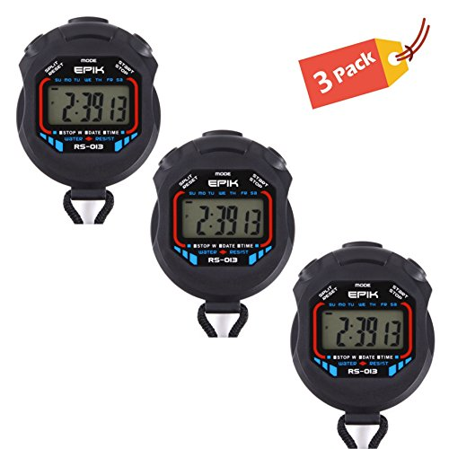 EPIK Professional Stopwatch, Clock, Extra Large Display, All Weather - The Ideal (Split Clock Extra Large Display)