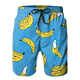 confirm vt Banana Fruit Tie Waist Mens Boardshorts Swim Trunks Men Tropical Gym Swim Board Shorts Bathing Swim Trunks