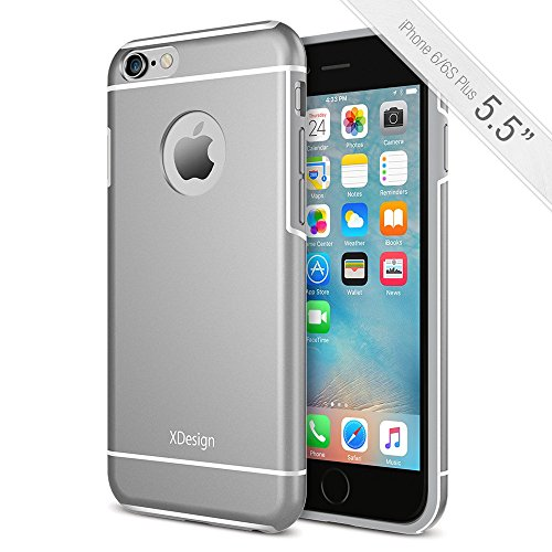 XDesign Inception Aluminum, TPU and PC Slim Protective Case for iPhone 6 / 6S Plus- Space Grey
