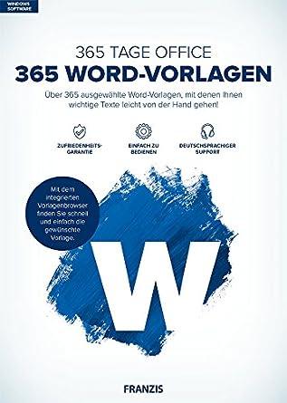 Franzis 365 Word Vorlagen Word über 365 Ausgewählte Word
